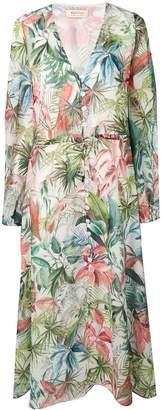 Black Coral jungle print maxi dress