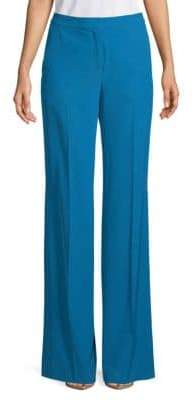 Akris Christa Printed Silk Trousers