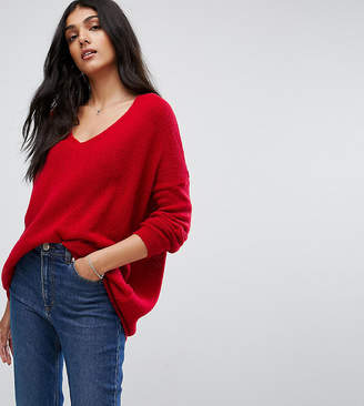 Asos Tall Jumper In Oversized With V Neck