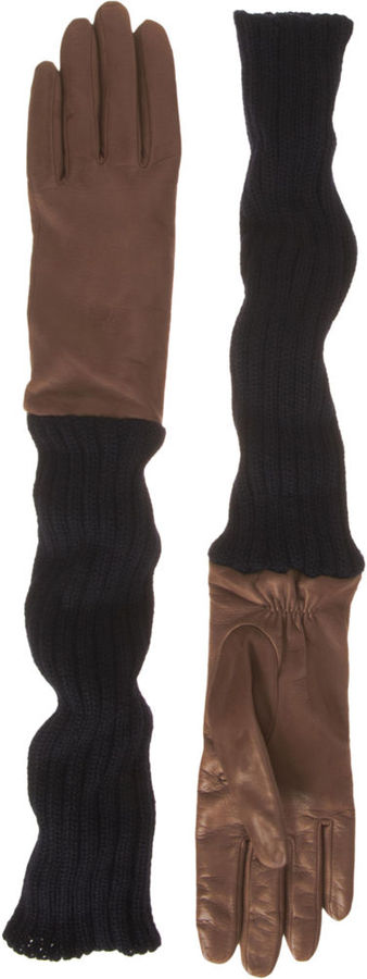 Barneys New York Long Mixed Gloves