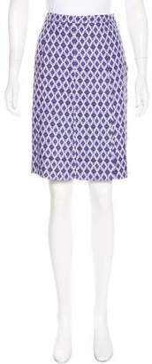 Tory Burch Printed Pleated Knee-Length Skirt