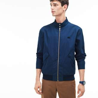 Lacoste Men's Cotton Blend Gabardine Harrington Jacket