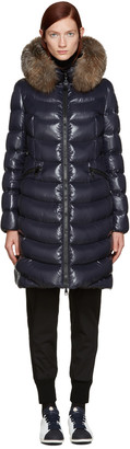 Moncler Navy Down Aphia Coat $1,995 thestylecure.com