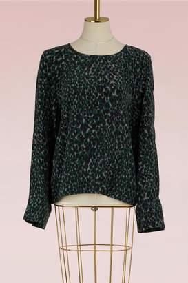 Equipment Abeline leopard blouse