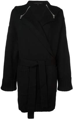Barbara Bui zipped cape belted cardigan