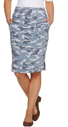 Logo By Lori Goldstein LOGO Lounge by Lori Goldstein Camo Printed French Terry Skirt