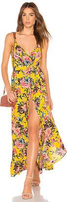 Band of Gypsies Chrysanthemum Wrap Dress