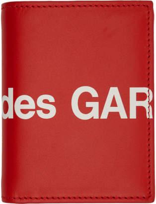 Comme des Garcons Wallets Red Huge Logo Bifold Card Holder