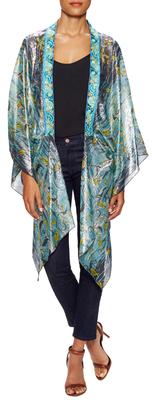 Anna SuiGone Fishing Silk Print Kimono