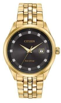 Citizen Corso BM7252-51G Goldtone Analog Watch