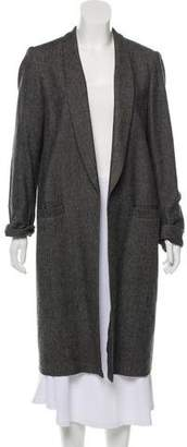Alice + Olivia Longline Wool-Blend Coat