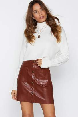 Nasty Gal Sunshine of Your Love Faux Leather Skirt