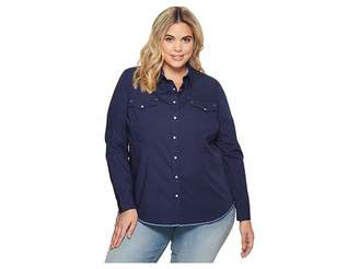 Roper Plus Size 1540 Solid Poplin Women's Clothing