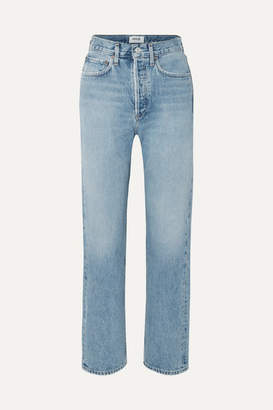 A Gold E Agolde AGOLDE - '90s Mid-rise Straight-leg Jeans - Mid denim