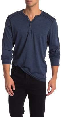 ProjekRaw Projek Raw Henley Space Dye Long Sleeve Shirt