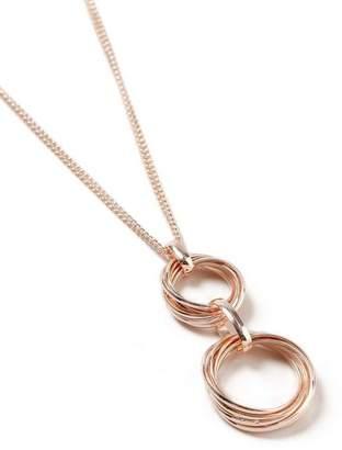 Wallis Rose Gold Cluster Necklace