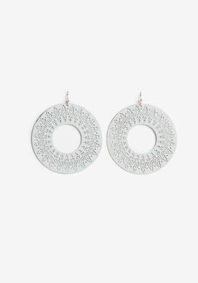 Express Washed Filigree Circle Earrings