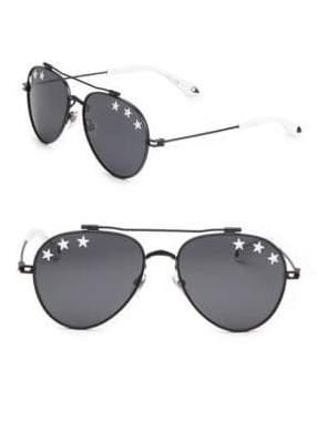 Givenchy 58MM Star Aviator Sunglasses