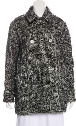 Burberry Virgin Wool Tweed Coat