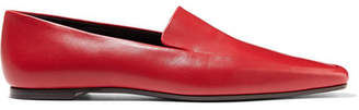 The Row Minimal Leather Loafers - Red
