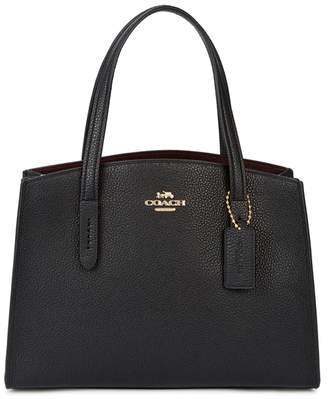 Coach Charlie 28 Black Leather Tote