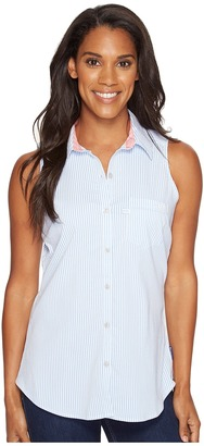 Columbia - Super Harborside Woven Sleeveless Shirt Women's Sleeveless $50 thestylecure.com