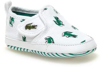 3269bb915 Lacoste Baby Gazon Crib Canvas Slip-ons