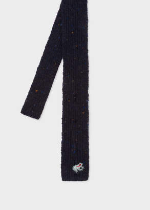 Paul Smith Men's Navy Flecked Knitted Wool And Cashmere Tie