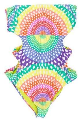 Mara Hoffman Printed Cutout Swimsuit w/ Tags