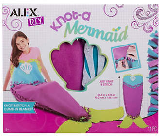Alex DIY Knot-A Mermaid Blanket