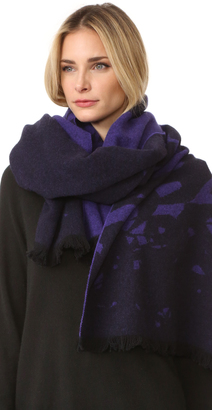McQ - Alexander McQueen Swallows Degrade Scarf $220 thestylecure.com