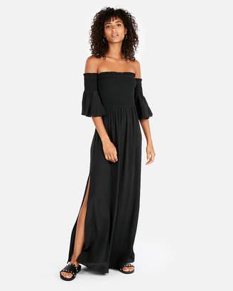 Express Off The Shoulder Bell Sleeve Maxi Dress