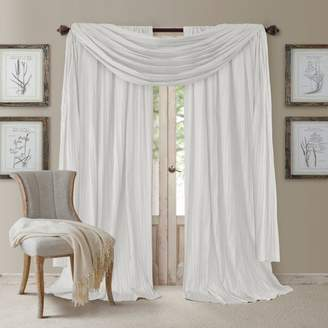 "Athena Elrene Home Fashions 52"" x 84"" Crinkled Curtain Panels, Pair with Scarf Valance"