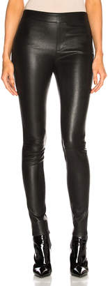 Helmut Lang Leather Legging in Black | FWRD