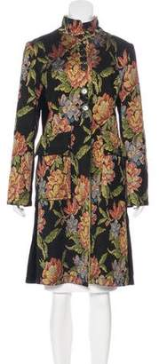 Etro Floral Brocade Paneled Coat