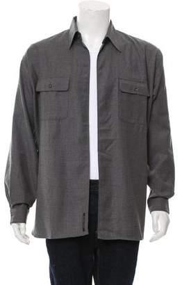 Michael Kors Woven Open Front Shirt