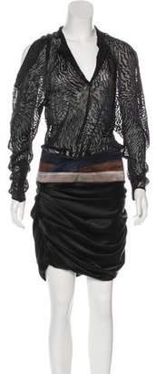 Balenciaga Silk Midi Dress