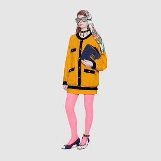 Gucci Oversize tweed bomber jacket