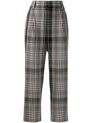 Brunello Cucinelli high-waisted tartan trousers