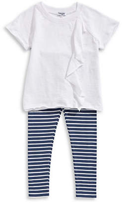 Splendid Top and Striped Leggings Set
