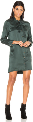 Equipment Leema Tie Neck Dress $358 thestylecure.com