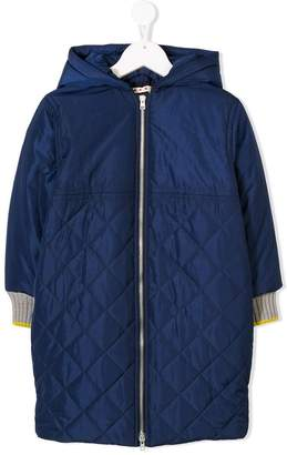 Marni quilted hooded coat