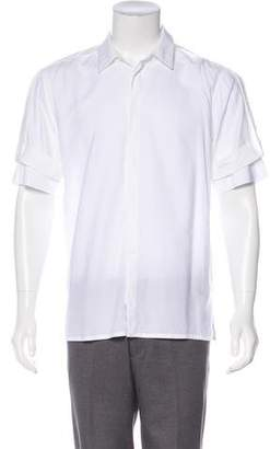 Helmut Lang Twill Strap-Accented Shirt