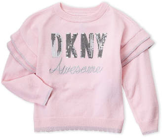 DKNY Toddler Girls) Scalloped Sequin Sweater