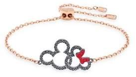 Swarovski Mickey & Minnie Mixed-Plated Bracelet