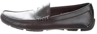 Salvatore Ferragamo Leather Square-Toe Driving Shoes