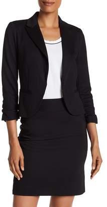 Amanda & Chelsea Pique 3/4 Sleeve Knit Blazer Jacket $180 thestylecure.com