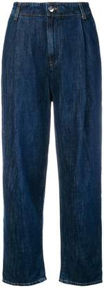 Caban Romantic high-waisted wide leg jeans