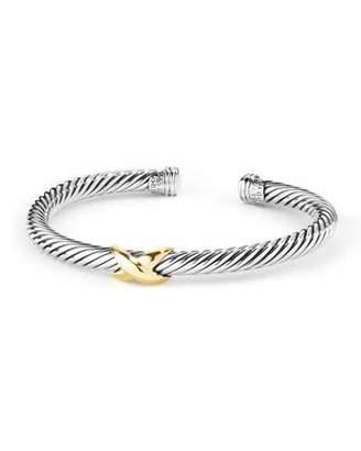 David Yurman 5mm Cable Bracelet, Silver/Gold
