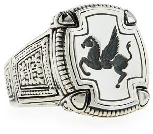 Konstantino Men's Pegasus Square Ring, Size 10